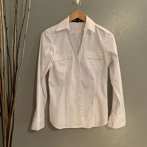 Express white button down long sleeve Sz Med